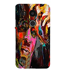 FUSON 3D Designer Back Case Cover for NEXUS5X D9899
