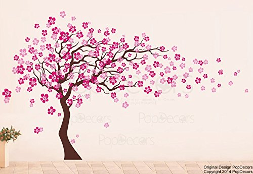 Popdecors   Cherry Blossom Tree (83inch H)   Beautiful Tree Wall Decals For  Kids