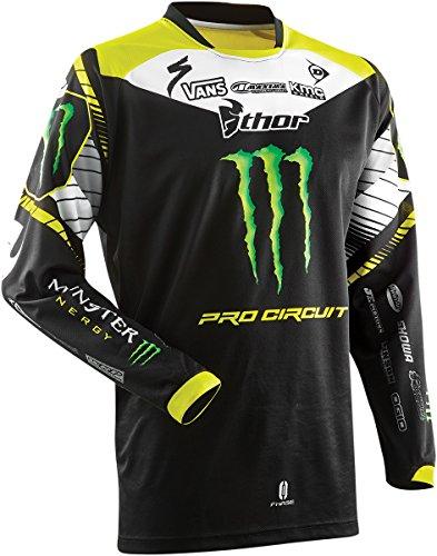 MONSTER ENERGY カー バイク用品 新デザイン オートバイ モンスターエナジー  レーシングスーツ保護装備長袖Tシャツ (XXL)