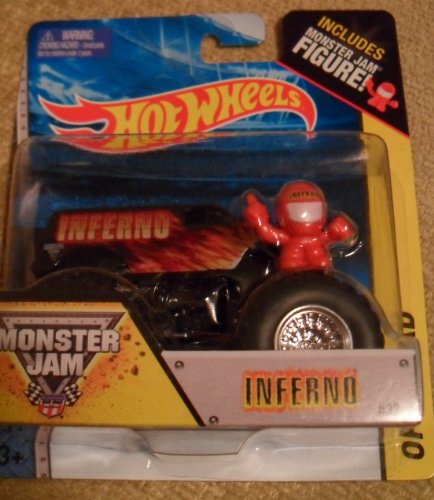Monster jam INFERNO hot wheels off-road include monster jam figure