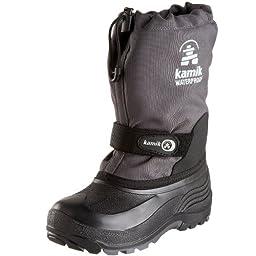 Kamik Waterbug 5 Cold Weather Boot (Toddler/Little Kid/Big Kid),Charcoal,5 M US Big Kid