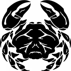 "Tribal Water Monster Sticker - 18"" inch - White"