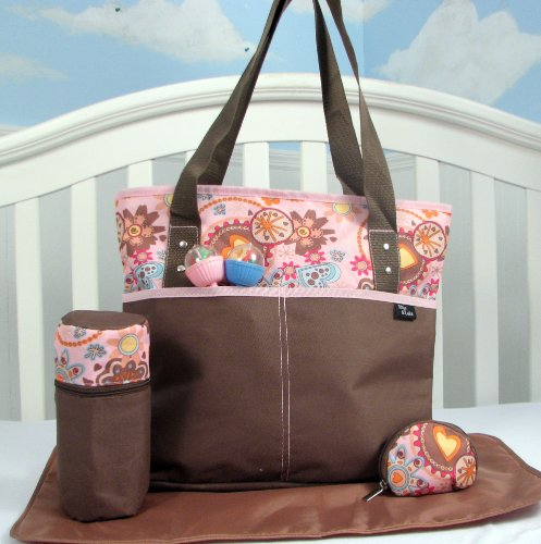 Soho Mordern Flowers 4 In 1 Deluxe Diaper Bag *Limited Time Offer* front-846281