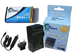 Olympus FE-370 Battery and Charger with Car Plug and EU Adapter - Replacement for Olympus LI-60B Digital Camera Batteries and Chargers (750mAh 3.7V Lithium-Ion)