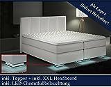 XXL Boxspringbett Designer Boxspring Bett LED