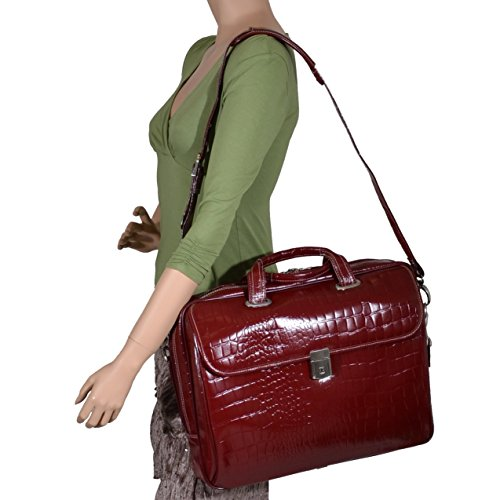 Siamod-Ignoto-Leather-Womens-17-Laptop-Briefcase-Cherry-Red