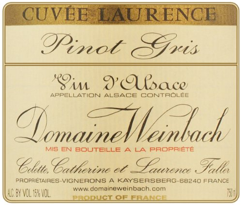 2007 Weinbach Cuvee Laurence Pinot Gris, Alsace 750 Ml