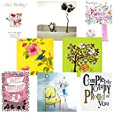 Greeting cards collection. Really Useful 1 - 8 blank cards and occasion cards including Thank you cards, New Baby card, Thinking of you card and Anniversary cardby Woodmansterne, Almanac...