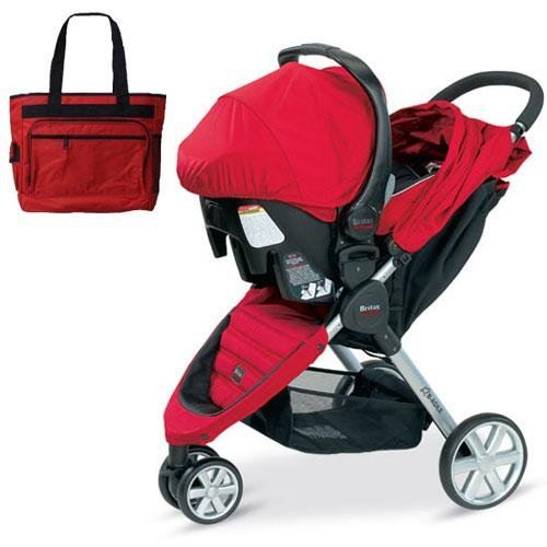 deals britax b agile travel system with matching car seat and diaper bag in red this review. Black Bedroom Furniture Sets. Home Design Ideas