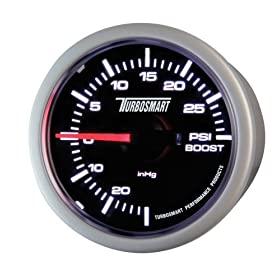 Turbosmart TS-0101-2023 52 mm - 2-1/16 inch 0-30 PSI Boost Gauge for Gated Boost Control Valves