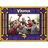 Minnesota Vikings Art Glass Horizontal Frame