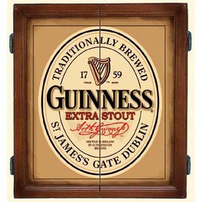 Guinness Extra Stout Irish Beer 3D Dart Board Game Cabinet For Sale