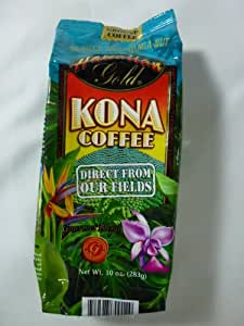 Hawaiian Gold Vanilla Macademia Nut Ground Coffee, 10 Oz (Pack of 6)