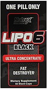 Nutrex Research Lipo 6 Black Ultra Concentrate Diet Supplement Capsules, 60 Count