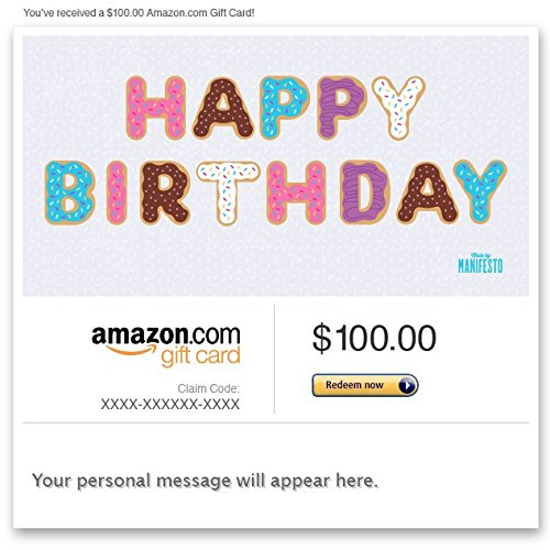 Amazon Gift Card - Email - Happy Birthday (Doughnuts)