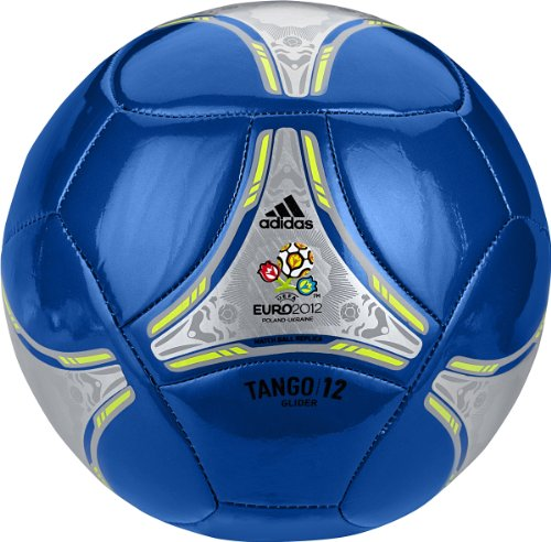 Adidas 2012 Glider Soccer Ball (Anodized Blue/Metallic Silver/Electricity, Size 3)