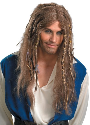 Jack Sparrow Dlx Wig Pirates Of The Caribbean Costume Wig 29866