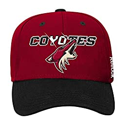NHL Arizona Coyotes Boys 8-20 Structured Adjustable Cap, One Size, Black