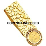 14K Gold Coin Bezel Money Clip