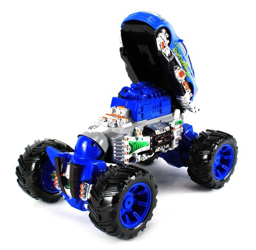 Deluxe Flip-Up Water Squirting Monster Cadillac Srx Electric Rc Truck Ready To Run Rtr Big Size, Can Squirt Water On Command From Remote (Colors May Vary)