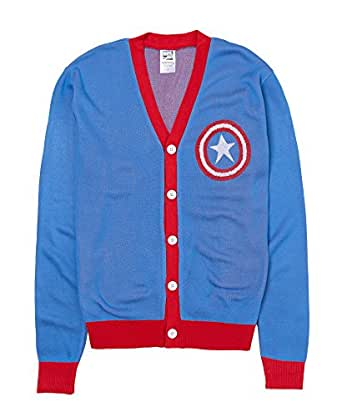 Captain America Shield Patch Cardigan Sweater