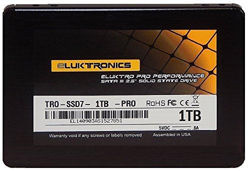 Eluktro Pro Performance 1TB SSD SATA III (6 GB/s) MLC 2.5-Inch 7mm Internal Solid State Drive TRO-SSD7-1TB-PRO