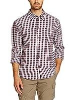 CMP Campagnolo Camisa Hombre 3T18947 (Burdeos / Blanco)