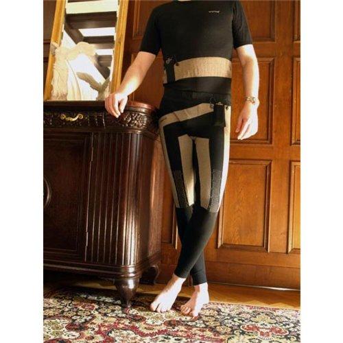 warmX warmers Unterhose Herren schwarz Heizung Knie / Oberschenkel, 70600, Größe Large