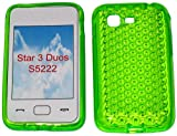 SDK- Smart Diamond Pattern Super Gel TPU Case Cover For Your Samsung Star 3 Duos GT S5222 S5220 In Lime Green...Other Amazing Colours Available!