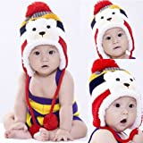 4 Colors Baby Lovely Colorful Stripe Pattern Cartoon Bear Hat Cap