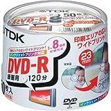 TDK DVD-R録画用 1-8倍速対応ホワイトプリンタブル(ワイド)50枚パック[DVD-R120PWDX50PK]