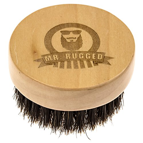 Mr Rugged Beard Brush - Premium Wood Brush with 100% Boar Bristles for Beards - Perfect for Applying Beard Balm & Beard Oil (Bbq Tools Funny compare prices)
