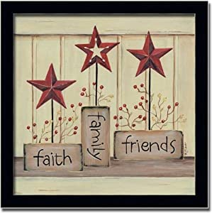 Amazon.com - Faith Family Friends Country Star Decor Sign Art