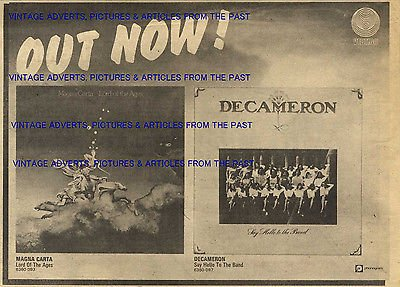 NME 22/9/1973 Pg18 VERTIGO RECORDS ADVERT, MAGNA CART & DECAMERON 7X10