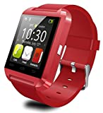EFOSHM SAFE Sport V8 Smart Watch for iOS and Android Smart Phones, Tablets, and Accessories (Red)