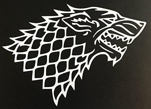 C60068 White Game of Thrones Stark Wolf 7x5
