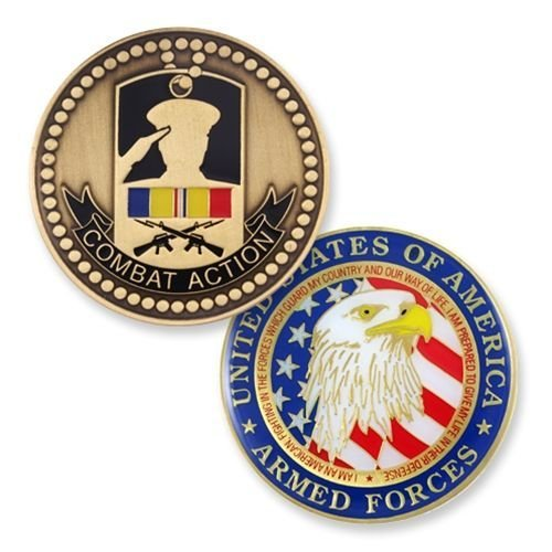 Combat Action Coin for All Service Branches