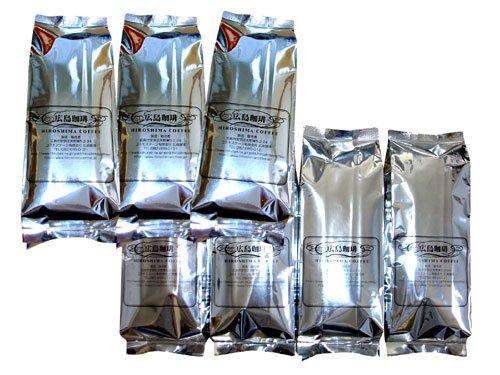 深煎りコーヒー豆自家焙煎ブラウンゴールドセット豆のまま