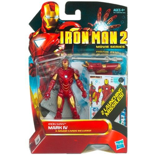 Iron Man 2 Movie 4 Inch Action Figure - Iron Man Mark IV - 1