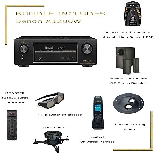 CYBER MONDAY AVR-X1200W IN-Command 7.2-channel home theater receiver with Wi-Fi, Bluetooth, Apple AirPlay, and Dolby Atmos Bundle