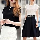 MIOIM ファッション レディース カジュアル シフォン シャツ トップス タンク 半袖 tシャツ ブラウス おしゃれ 人気 女性