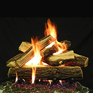 24 Inches Country Split Fire Gas Logs No Hearth Kits For Natural Gas Liquid