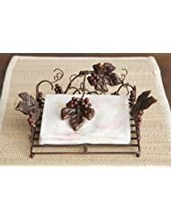 Your Hearts Delight Tuscan Napkin Holder, 7-1 2 by 7-1 2 by 3-1 2-Inch by audreys