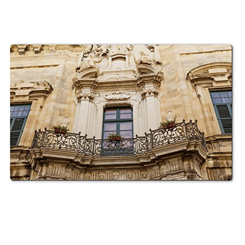 Liili Large Table Mat 28.4 x 17.7 x 0.2 inches A typical Maltese balcony with a fancy wrought iron railing 28603480 (Decorative Iron Railing compare prices)