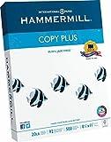 Hammermill Copy Plus Multipurpose/Fax/Laser/Inkjet Printer Paper, Letter Size (8.5 x 11), 92 Brightness, 20 lb, Acid Free, Ream, 500 Total Sheets (105007)