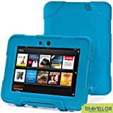 """New Hot Item High Quality Kindle Fire HD 7""""Cover Case Slim Fit Silicone Plastic Dual Protective Back Cover Kid Proof Case Standing Case for Amazon Kindle Fire HD 7 Inch(will Only Fit Kindle Fire HD 7""""Previous Generation)-multiple Color Options (Light Blue)"""