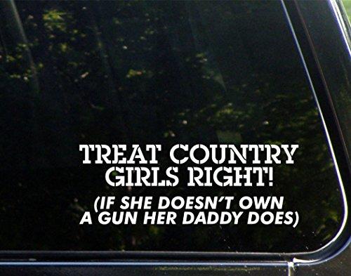 """Treat Country, destro, se non è solo un suo Daddy-Pandora, 22,86 (9 cm x 3-1/10,16 cm (4"""")-Die-Cut decalcomania/Sticker per finestre, auto, camion, laptop, ecc."""