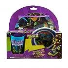 Teenage Mutant Ninja Turtles 3 Piece Dinnerware Gift Set - TMNT Bowl