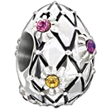 New New Authentic Chamilia 2014 LTD Jeweled Egg Charm Bead 2025-1046