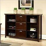 Martin Furniture Tribeca Loft 3 Drawer File/Bookcase, Cherry